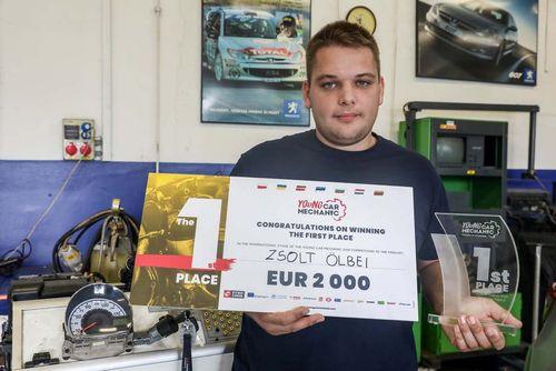 A győri diák kétezer eurót nyert a sulijának – jövőre utazhat a sanghaji világbajnokságra